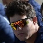Ryan Oberg chillin' in the dugout