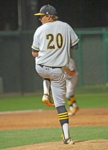 Mack Schroder on the hill for Saguaro
