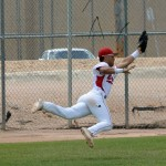 Ryan Velez lays out for a web gem for Brophy